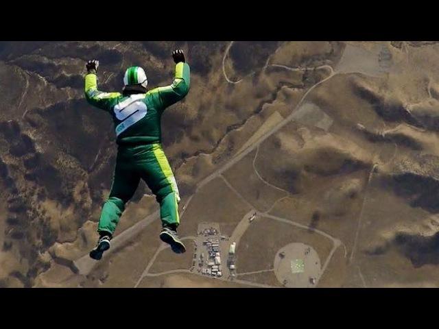 Luke Aikins No Parachute 25,000 Feet Airplane Jump Complete Video