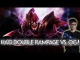 Newbee.Hao Double RAMPAGE vs. OG Dota 2