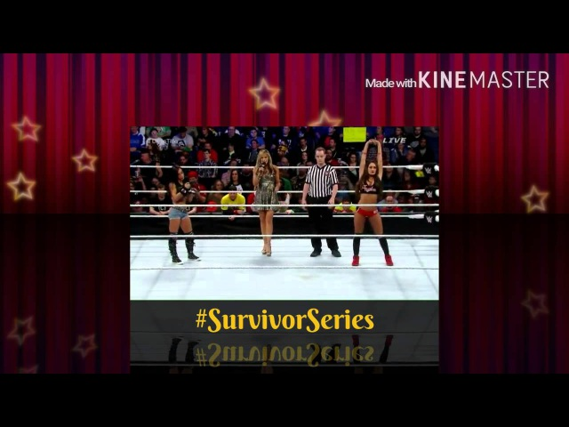 WWE Survivor Series 2014 Nikki Bella vs AJ Lee