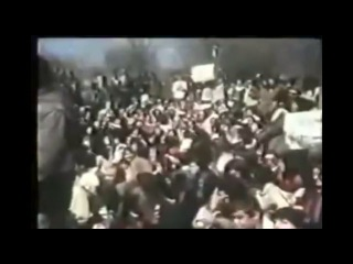 Iranian women protest shortly after the Iranian Revolution of 1979