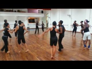 Rehearsal casino (with orishas) and rueda july 2014, conjunto folklorico nacional de cuba