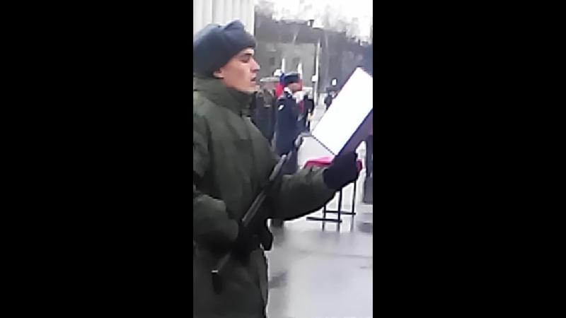 присяга Жигалов Борис 21.11.2015 РПК ОДОН ВВ МВД РФ