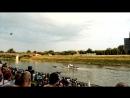 Венгрия Szolnok река Tisza авиашоу в честь дня конституции