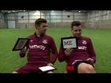 Me and Him. Aaron Cresswell and Carl Jenkinson! West Ham-Вест Хэм