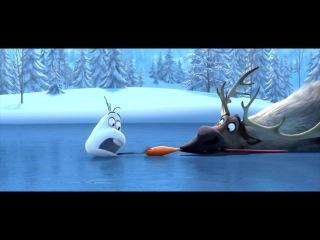 Короткометражный мультфильм. Олень и снеговик. 3D анимационный фильм