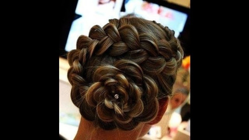 прическа - коса в цветке / hairstyle - tress in flower