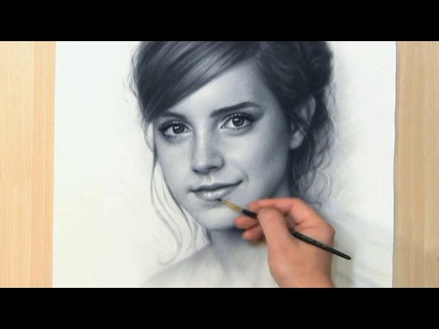 Emma Watson drawing portrait by Igor Kazarin