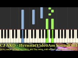 CJ AKO Synthesia Ноты Красивая мелодия Piano relaxing music на пианино Музыка для души