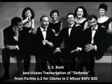 J. S. Bach-Swingle Singers Jazz-Voices Transcription of