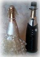Свадебные бутылки шампанского своими руками невеста