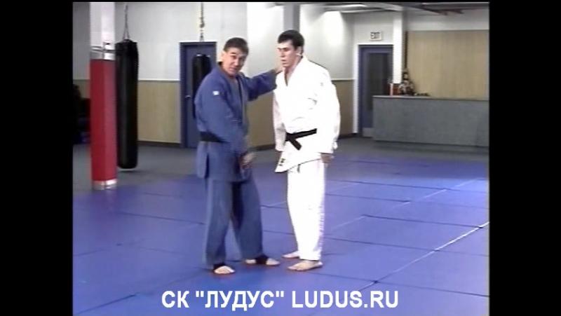 Игорь Якимов - Русское дзюдо - O-goshi (Бросок через бедро с захватом пояса на спине через плечо)