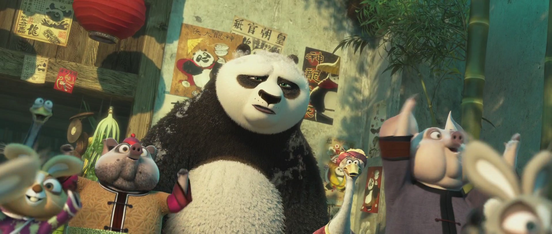 панда кунг-фу недовальная