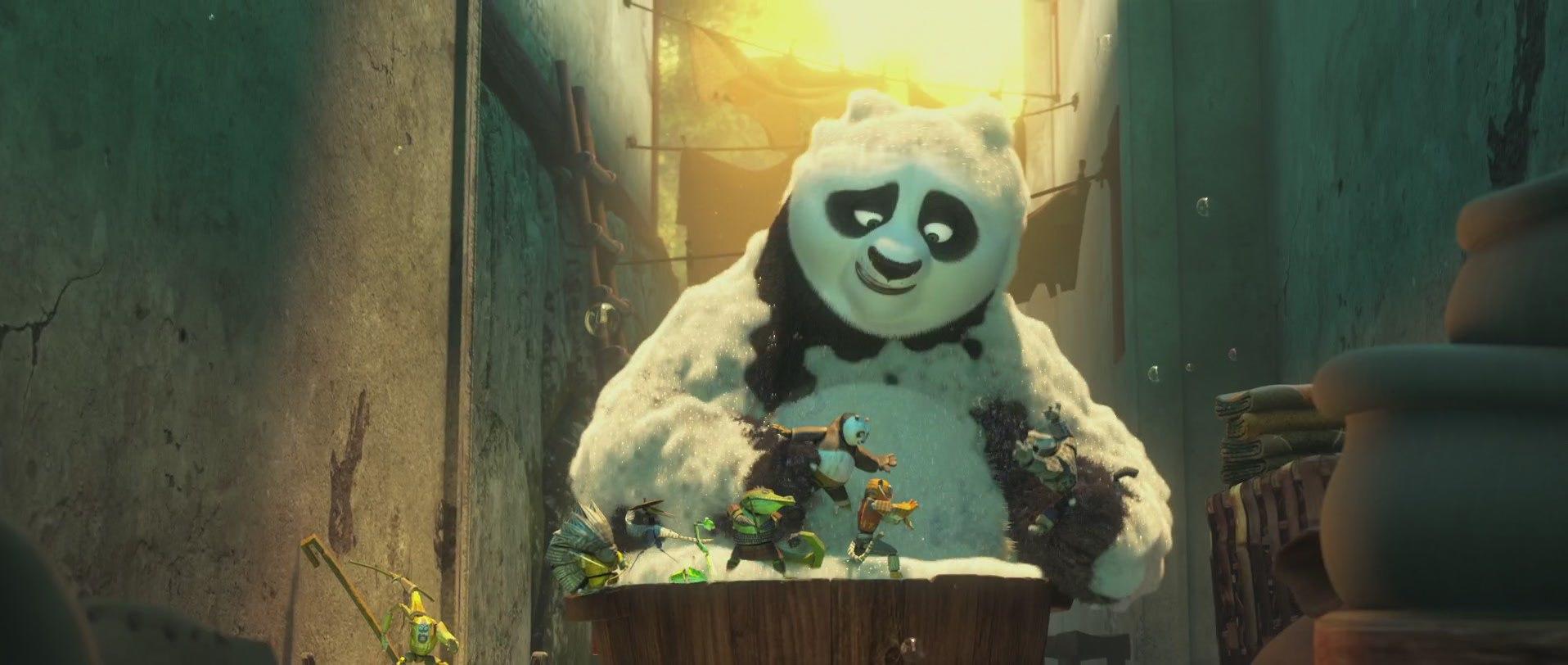 кунг-фу панда и игрушки в ванной