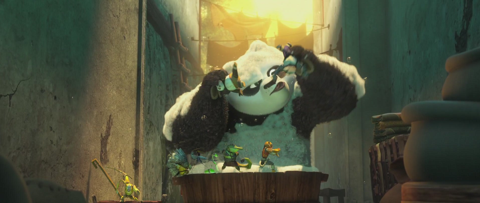 игры кунг-фу панды в душе 2016