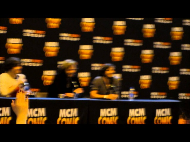 Alex Vlahos, Rupert Young and Eoin Macken Panel at MCM Birminghm, 2013