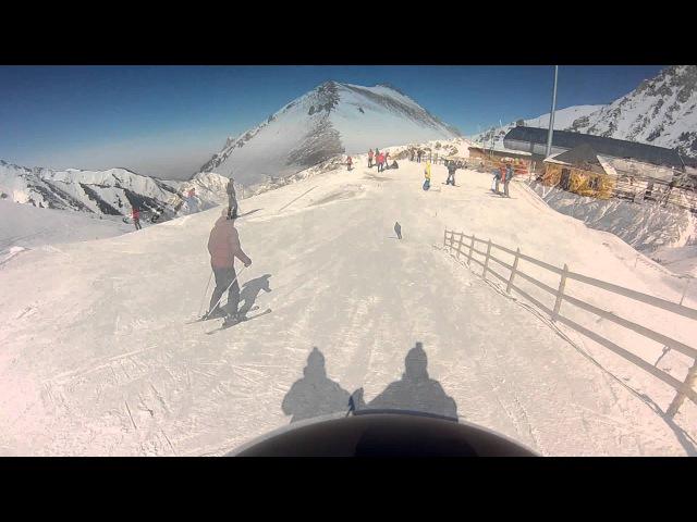 Чимбулак, катания на лыжах, горные лыжи, Алматы (shymbulak, Almaty) февраль 2014.