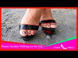 Women's Pleaser Blondie Comfort Two Tone Sandals Walking on the Soil
