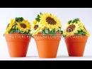 HOT CAKE TRENDS Buttercream Sunflower cupcakes - How to make by Olga Zaytseva