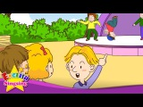 [Present progressive] What's he doing? He's dancing. jumping. jogging. - Easy Dialogue for Kids