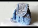 Мастер класс Вяжем рюкзак из трикотажной пряжи