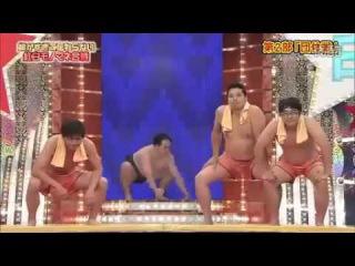 Миниатюра. Борцы сумо в сауне.