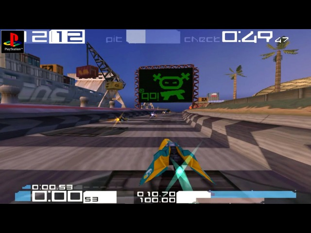Wipeout 3 - Gameplay PSX / PS1 / PS One / HD 720P (Epsxe)
