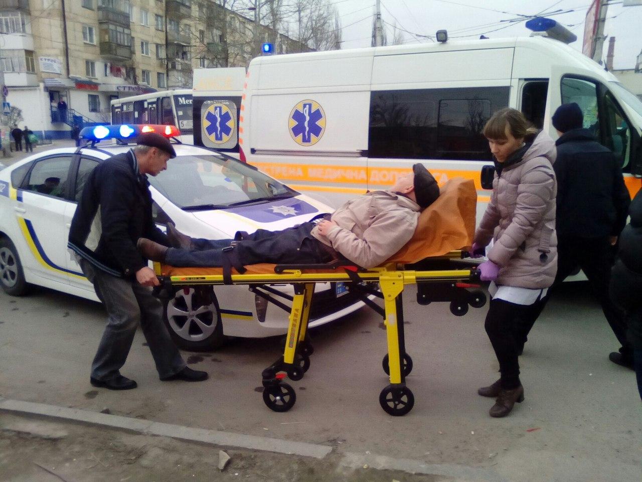 В Херсоне маршрутка сбила человека (фото)