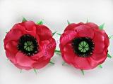 Мак из атласных лент, Уроки Канзаши для Начинающих / DIY Poppy flower