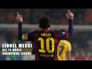 Лионель Месси Все 74 гола Лига Чемпионов - Новый рекорд |HD|