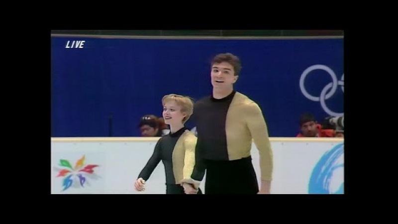 [HD] Berezhnaya Sikharulidze - Barcelona - 1998 Nagano Olympics Exhibition - Бережная,Сихарулидзе