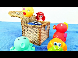 Развивающее видео для детей. Русалочка и потерянное сокровище. Видео с игрушками.