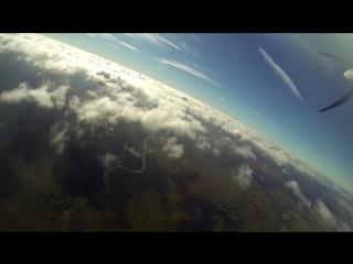 """Полёт в облаках на самолёте NG-4. Аэродром """"Хатёнки"""", г.Козельск Калужской области."""
