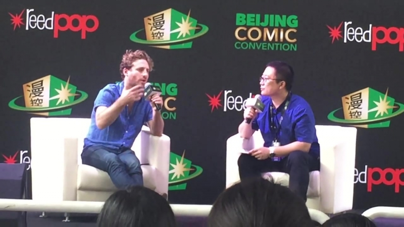 Dean OGorman in Beijing ComicCon talking about Richard Armitage (RUS SUB)