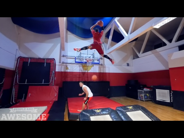 Extreme basketball dunks by The Dream Team! | People are Awesome