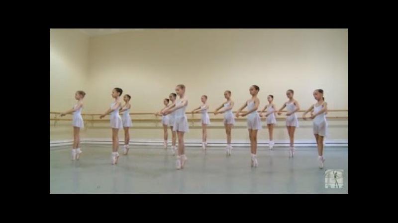 Vaganova Ballet Academy First exercises on pointe