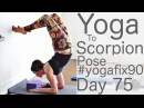 Yoga to Scorpion pose Day 75 Yoga Fix 90 with Lesley Fightmaster