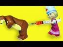 Маша и Медведь Мишка Заболел ДОКТОР МАША делает УКОЛ. Мультик с игрушками. Masha and the Bear