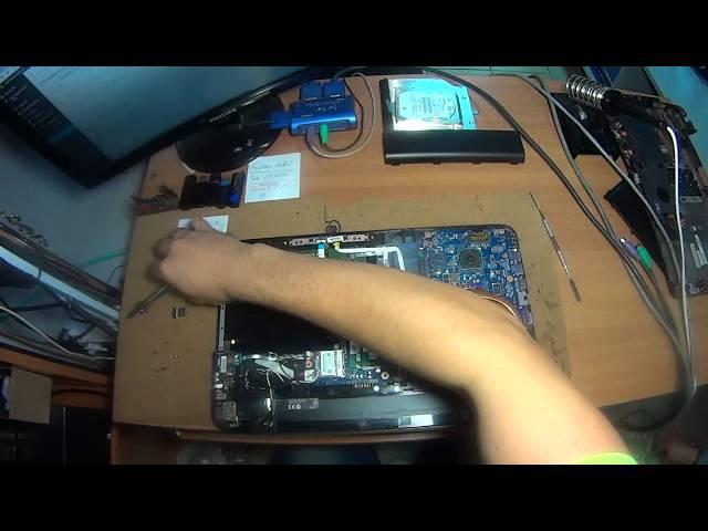 как разобрать и собрать ноутбук Toshiba satellite L850D dissasemble assemble