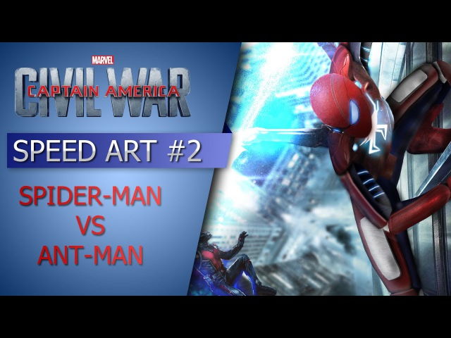 Capitain America Civil War Poster FAN MADE Spider Man VS Ant Man