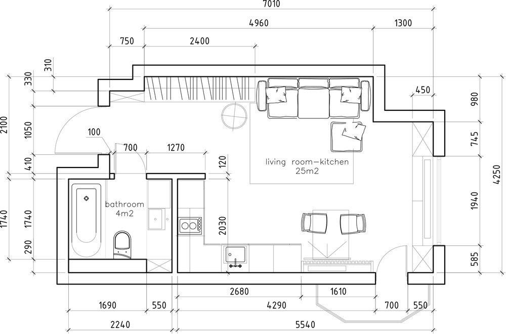 Концепт квартиры 29 м.