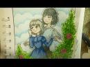 Рисую фан-арт к аниме Ходячий замок Хаула