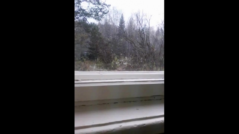 первый снег в Ючке !!