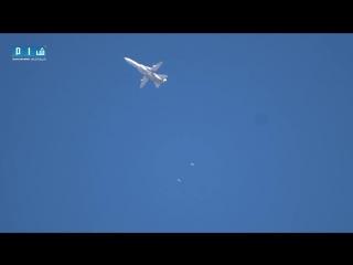Сирия.Су-24М ВКС РФ нанёс бомбовый удар по позициям боевиков. Провинция Идлиб. .