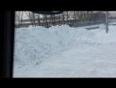 Ровняем снег экскаватор погрузчик jcb 4cx
