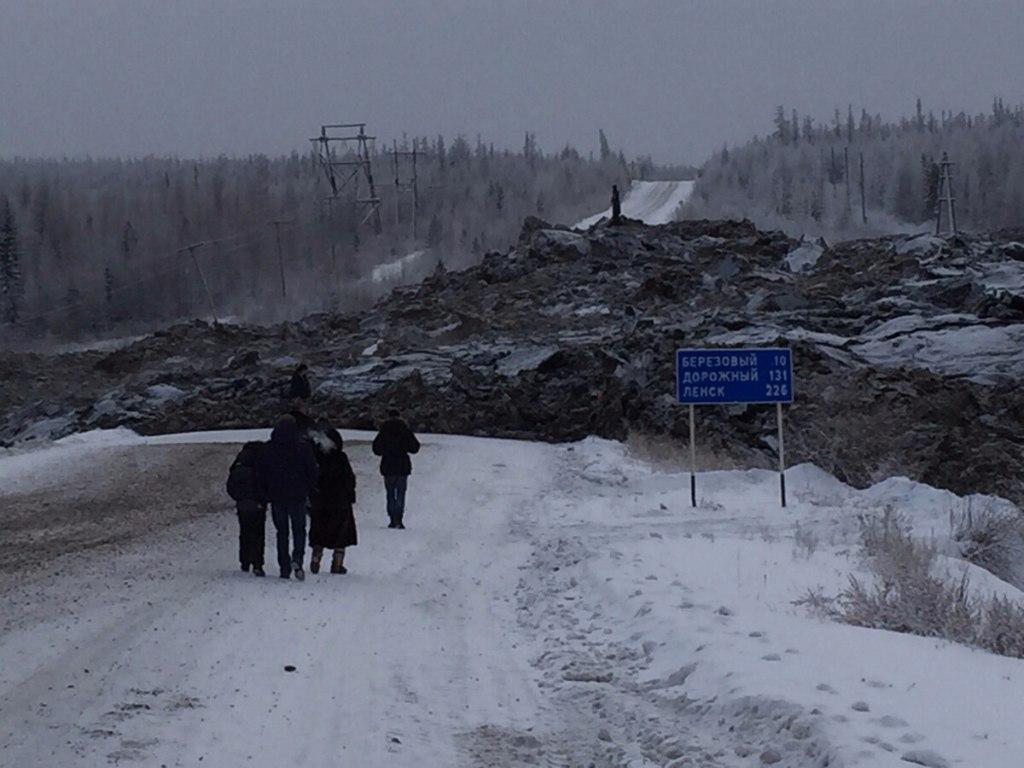 МЧС информирует водителей, следующих из г.Мирный в г.Ленск и в обратном направлении