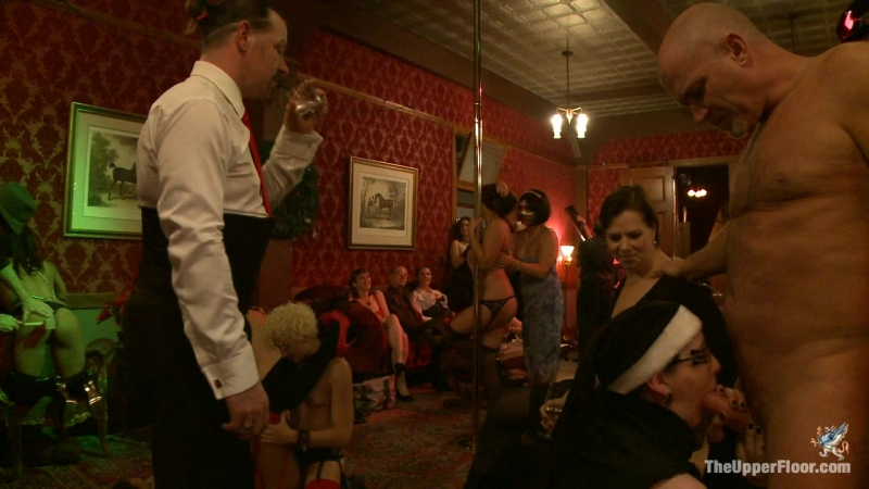 Skin Diamond and Juliette March, Krysta Kaos, The Pope, Sparky Sin Claire Christmas Part Two BDSM slaves and