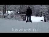 Гироскутер Wmotion WM8 по снегу зимой большие колеса 10 дюймов обзор отзывы