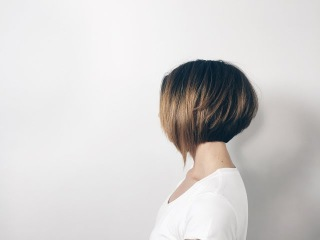 How to cut classic bob with long asymmetrical fringe