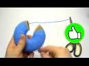 Как сделать помпон из ниток пряжи мастер класс способ третий помпон на картонных кольцах