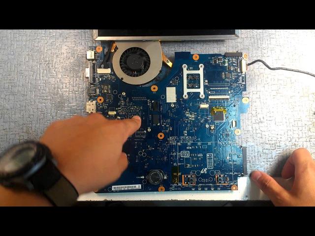 Ремонт ноутбука SAMSUNG R530, конденсатор NEC и микротрещина в текстолите.